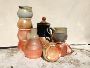 Ivy Kleinbart.  Wood-fired pottery.