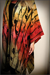 Barbara Weingart. Handmade and dyed silk caftan.