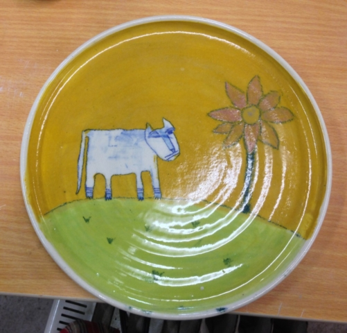 BluFoot with Flower Tree Plate