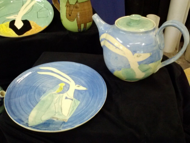 Trickster Teapot and Trickster & Bird Plate