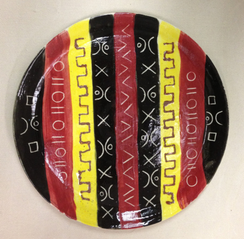 African Rythmns Plate