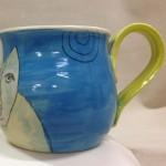 Blufoot with bird mug