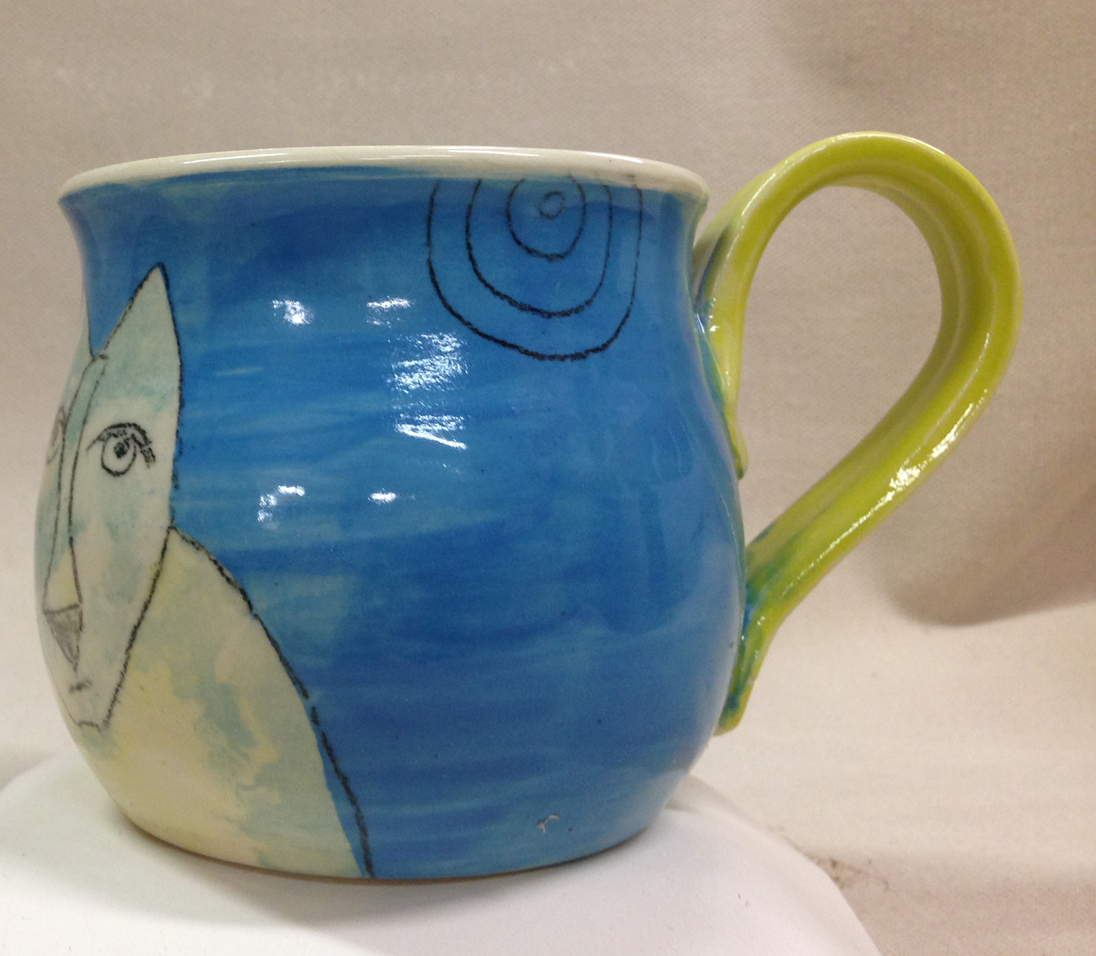 Blufoot with bird mug