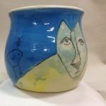 Blufoot with bird mug view 5