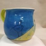 Blufoot with bird mug view 4
