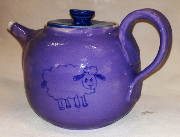 Goat Teapot Rear Side