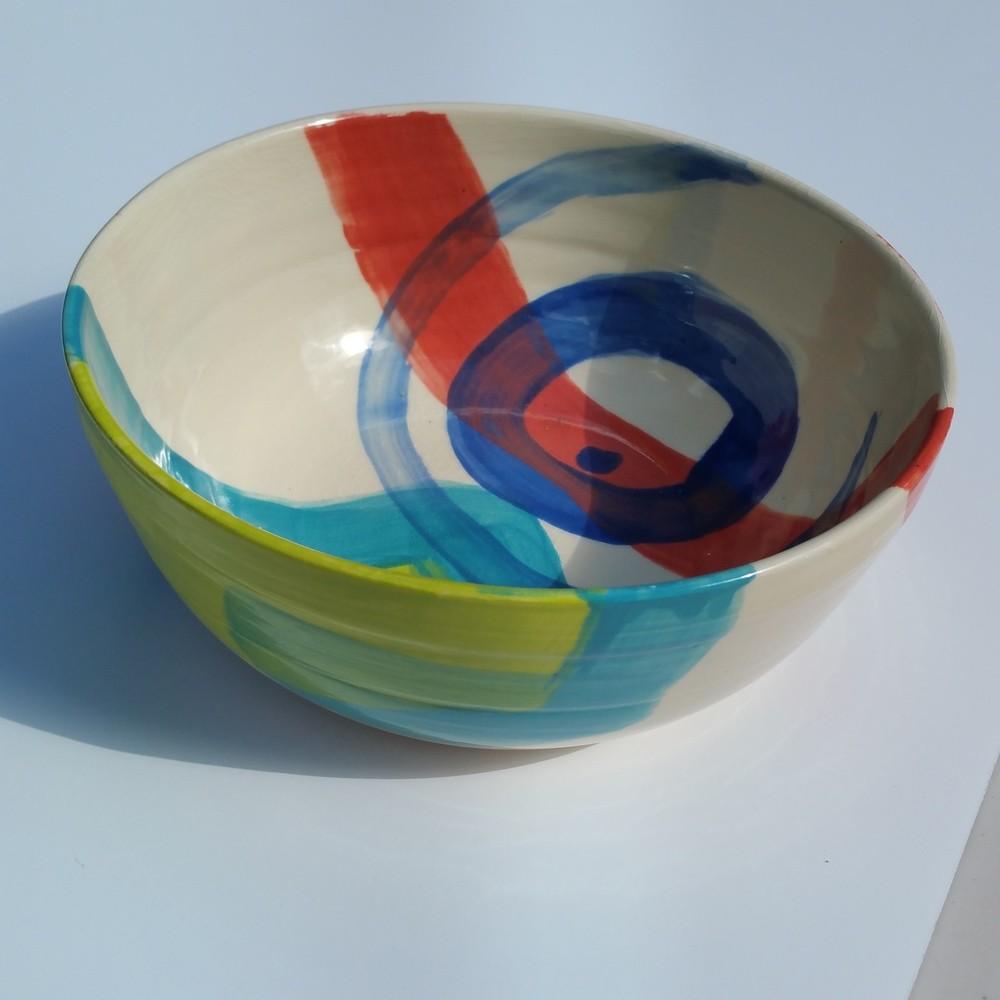 "Large Swirl Bowl 10"" wide x 3.5"" deep"