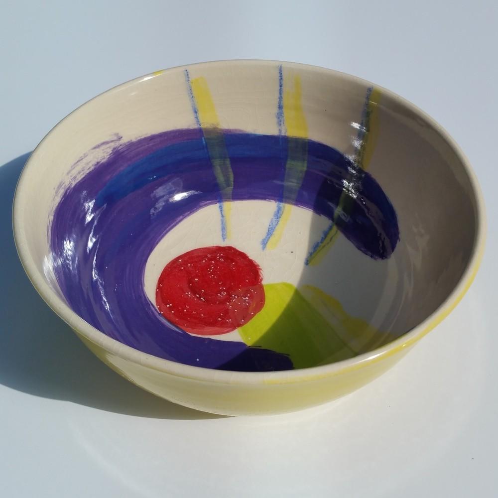 "Large Swirl Bowl 2 10"" wide x 3.5"" deep"