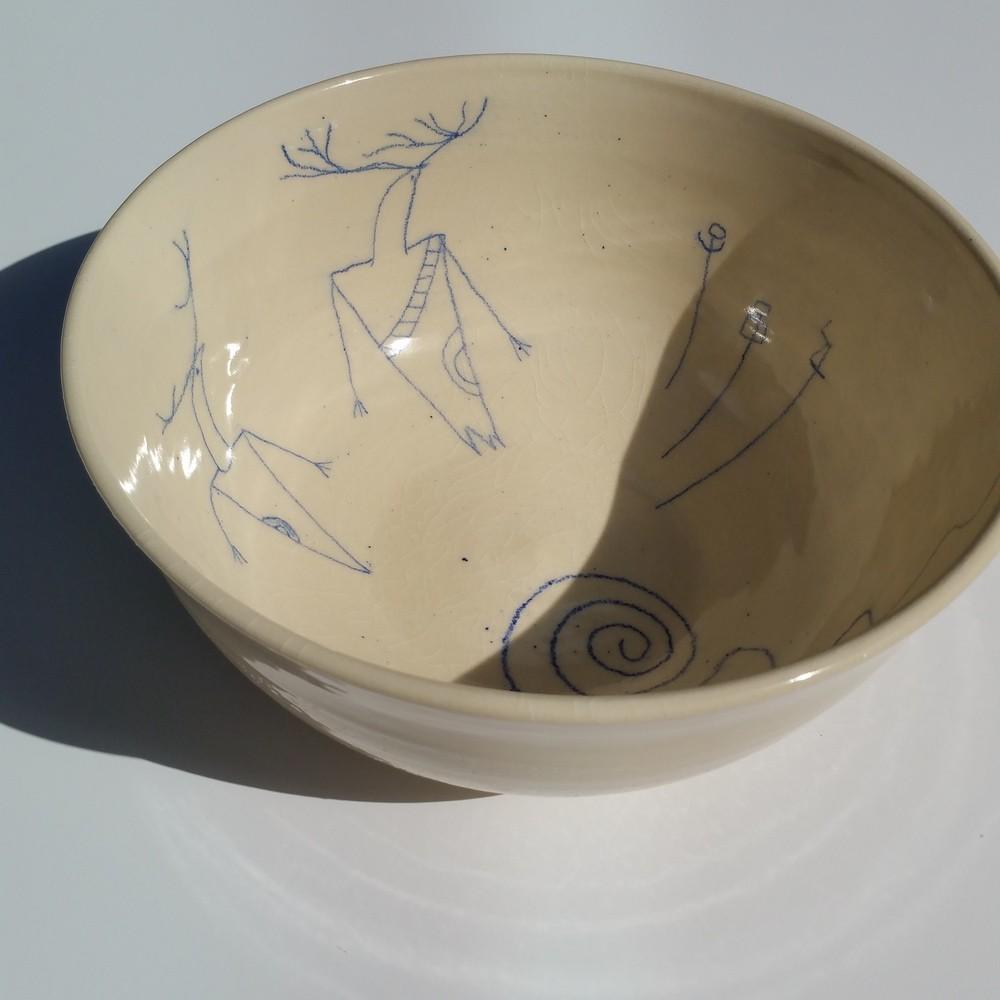 """Large Ancient Voices Bowl 10.5"""" wide x 3.5"""" deep"""